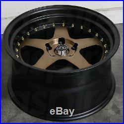 17x9 Matte Bronze Black Lip. Wheels JNC 010 JNC010 4x100/4x114.3 20 (Set of 4)