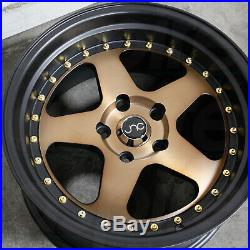 17x9 Matte Bronze Black Lip. Wheels JNC 010 JNC010 5x100/5x114.3 25 (Set of 4)