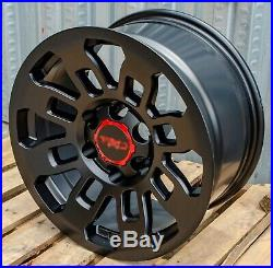 17x9 Pro Style Matte Black Wheels Fits Toyota Tacoma FJ Cruiser 4Runner