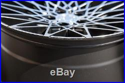18X8/18x9 AodHan LS001 Rims 5X114.3 +15 Matte Black Wheel Fits G35 350z (Used)