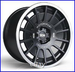 18 3sdm 0.66 Alloy Wheels Matt Black Fits Audi A3 A4 A6 Tt 8.5j