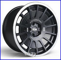 18 3sdm 0.66 Alloy Wheels Matt Black Fits Vw Golf Passat Caddy Eos 8.5j