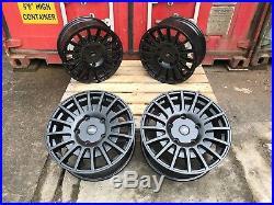 18 Alloy Wheels Ford Transit Van MK6 Mk7 Mk8 Custom Trend BLACK High Load X4 RS