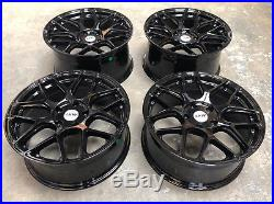 18 Alloy Wheels LKW LK0.8 BMW 3 Series E90 E91 E92 F30 GLOSS Black Staggered