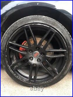 18 Audi RS4 Style Alloy Wheels With Tyres Matt Black 5x100
