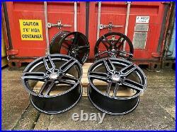 18 BMW 1 2 3 4 SERIES ALLOY WHEELS NO TYRES black m sport ALUWERKS TW5