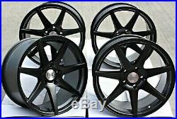 18 Black Z1 Alloy Wheels Fits Vauxhall Vivaro Mk1 Renault Trafic 5x118