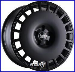 18 Bola B12 Alloy Wheels And Tyres Vw Golf Caddy Touran Passat 5x112 Matt Black
