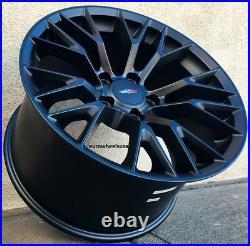 18 Inch Wheels 18x8.5 5x120.65 Black Fit Corvette Firebird Camaro 18 Rims Set 4