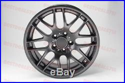 18 M3 Csl Style Rims Matte Black Wheels Fits Bmw 3 Series Staggered E90 E92 E93