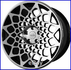 18 Radi8 r8b12 Gloss black / machined Wheels FREE DELIVERY