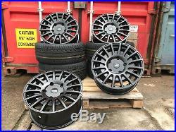 18 Transit Rs Style Alloy Wheel Matt Black Fitted Tyres Ford Transit Custom Van