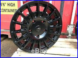 18 Transit Rs Style Alloy Wheel Matt Black Fitted Tyres Ford Transit Custom Van