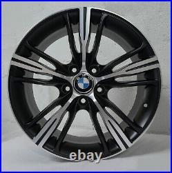 18 inch Matte Black Rims fits BMW 328i 2007 2016 set(4 wheels)