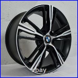18 inch Matte Black Rims fits BMW 328i xDrive 2009 2016 set(4 wheels)