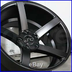 18x10 Matte Black Wheels JNC 026 5x114.3 25 (Set of 4)
