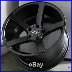 18x8/18x9 Matte Black Wheels JNC 026 JNC026 5x112 35/35 (Set of 4)
