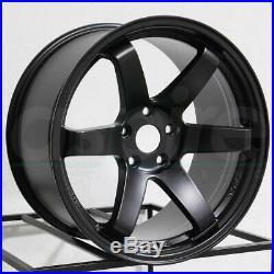 18x8.5/18x9.5 Matte Black Wheels JNC 014 JNC014 5x114.3 35/30 (Set of 4)