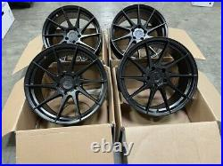 18x8.5 +35 AodHan AH09 5x114.3 Matte Black True Direction Wheels (Used Set)