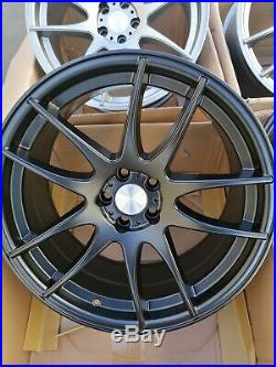 18x8.5 Avid. 1 AV32 5x100 +35 Wheels Rims Fits Wrx Celica Frs Brz
