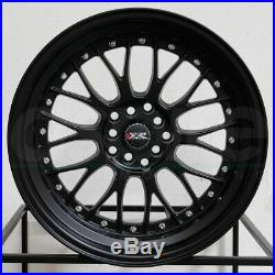 18x8.5 Flat Black Wheels XXR 521 5x114.3/5x120 25 (Set of 4)