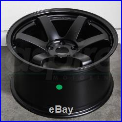 18x8.5 JNC 014 JNC014 5x114.3 35 Matte Black Wheel Rims set(4)
