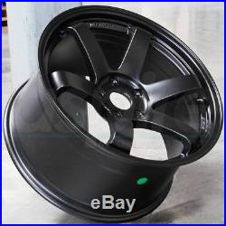 18x8.5 JNC 014 JNC014 5x120 35 Matte Black Wheel Rims set(4)