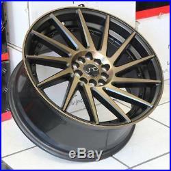 18x8.5 JNC 051 JNC051 5x100/5x112 35 Matte Black Bronze Face Wheel Rims set(4)