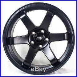 18x8.5 MST MT01 5x108 ET35 Matte Black Wheels (Set of 4)