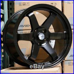 18x8.5 Matte Black Wheels AVID1 AV06 AV-06 5x114.3 35 (Set of 4)