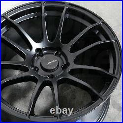 18x8.5 Matte Black Wheels AVID1 AV20 5x100 33 (Set of 4) 73.1