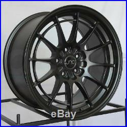 18x8.5 Matte Black Wheels JNC 033 JNC033 5x114.3 35 (Set of 4)