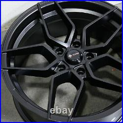 18x8.5 Matte Black Wheels Vors LP1 5x112 35 (Set of 4) 73.1