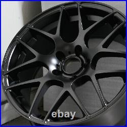 18x8.5 Rep P40 Concave Style 5x114.3 35 Matte Black Wheels Rims Set(4)