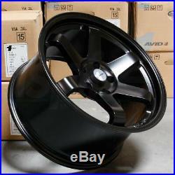 18x8 Matte Black Wheels AVID1 AV06 AV-06 5x114.3 35 (Set of 4)