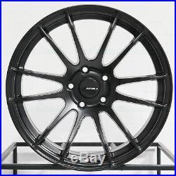 18x8 Matte Black Wheels AVID1 AV20 AV-20 5x114.3 35 (Set of 4)