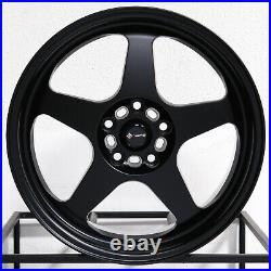 18x8 Matte Black Wheels Vors SP1 5x100/5x114.3 35 (Set of 4) 73.1