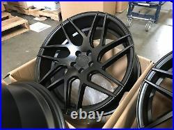18x9 +30 Aodhan LS008 5x100 Matte Black Wheels (Use Set)