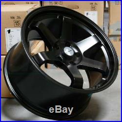 18x9.5 Matte Black Wheels AVID1 AV06 AV-06 5x114.3 18 (Set of 4)