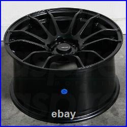 18x9.5 Matte Black Wheels AVID1 AV20 5x100 38 (Set of 4) 73.1
