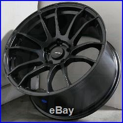 18x9.5 Matte Black Wheels AVID1 AV20 AV-20 5x100 38 (Set of 4)