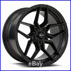 18x9.5 Matte Black Wheels Vors LP1 5x114.3 35 (Set of 4) 73.1