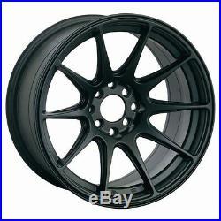 18x9.75 Xxr 527 Wheels 5x100/114.3 +20 Flat Black Rims Fits Evo 10 2008 -2013
