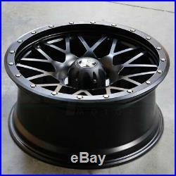 18x9 COW KT02 6x139.7/6x5.5 0 Flat Black Wheels Rims Set(4)