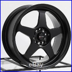 18x9 Matte Black Wheels Vors SP1 5x100/5x114.3 35 (Set of 4)