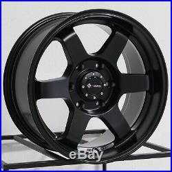 18x9 Matte Black Wheels Vors VE37 6x5.5/6x139.7 0 (Set of 4)