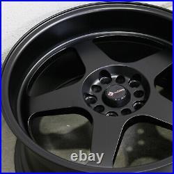 18x9 Vors SP1 5x100/5x114.3 35 Matte Black Wheels Rims Set(4) 73.1