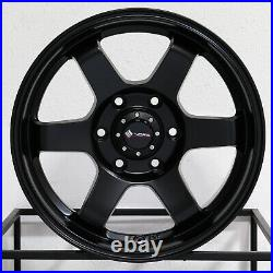 18x9 Vors VE37 fit Tacoma 4Runner FJ Cruiser 6x5.5/6x139.7 0 Matte Black Wheels