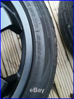 19ALLOY WHEELS FITS MAZDA NISSAN MITZ HONDA TOYOTA 5X114.3 MATT BLACK 7mm tyres