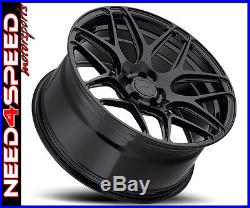 19 20 MRR FS01 Flow Forged Matte Black 19x10 20x12 Wheels For C7 Corvette Z06